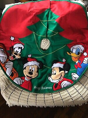 Disney World Parks Santa Mickey Mouse and Friends Christmas Tree Skirt 50in