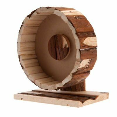 Wooden Exercise Wheel Large Small Pets Mice Hamster Gerbil Quite Gentle Exercise