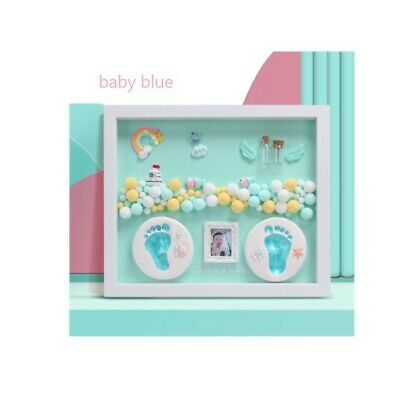 Baby Boy Baby Girl 3D DIY Handprint Footprint Clay Newborn keepsakes Photo Frame