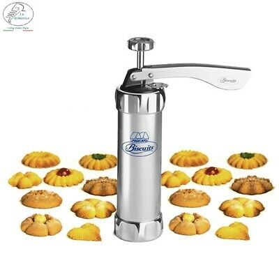 Cookie Noodle Maker + Cake Icing, 22Pcs Stainless Steel Treats Presser