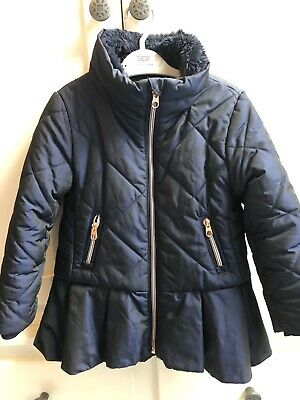 Girls Child Ted Baker Coat Jacket Age 5 Years Navy Blue Excellent Condition