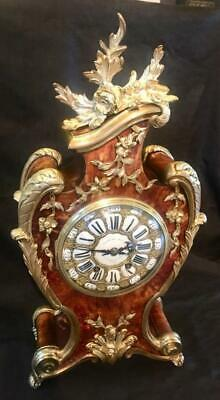 Antique french boulle clock bombe cased heavy ormolu