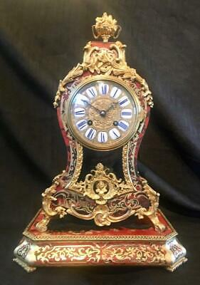 Antique french boulle clock bombe cased