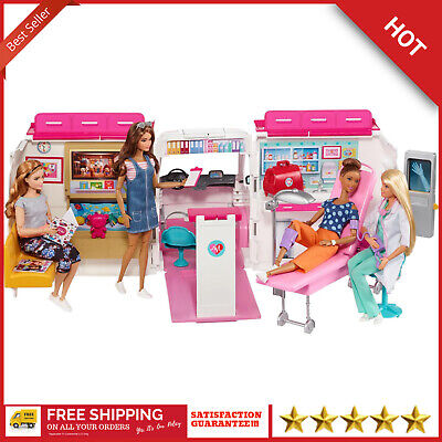 Barbie Care Clinic 2-In-1 Fun Playset For Ages 3Y+ Playset Ambulance Hospital