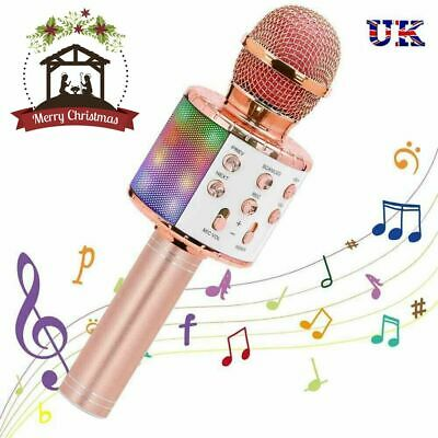 Handheld Wireless Bluetooth Karaoke Microphone USB KTV Player MIC Speaker 2019