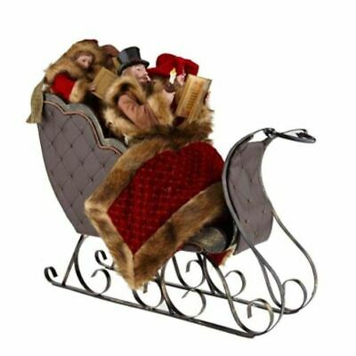 Christmas Sleigh With Carolers 23 Inches