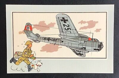 TINTIN Chromo See and - Savoir faire theAviation Guerre 39-45 Series 1 no.19