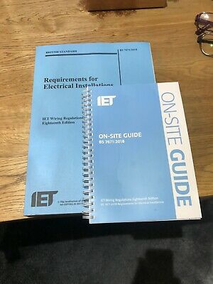 18th edition IET Wiring Regulations and on site guide in as new condition