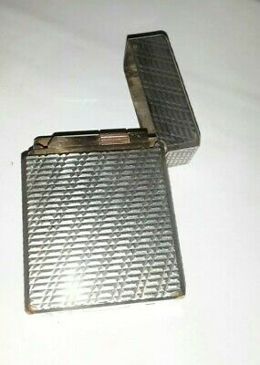 ACCENDINO S.T. DUPONT LIGHTER FEUERZEUG ARGENTO a GAS