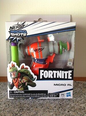 NERF FORTNITE MICROSHOTS Rex RL Single Shot Blaster w/ 2 Darts NEW In STOCK