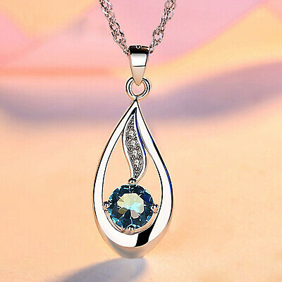 REAL SOLID SILVER 925  Classic Sterling Silver Necklace & Pendant Accent-033
