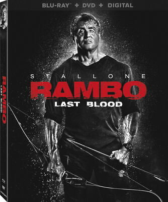 Rambo: Last Blood - BLU-RAY with case/artwork - No DVD or Digital - FREE SHIP
