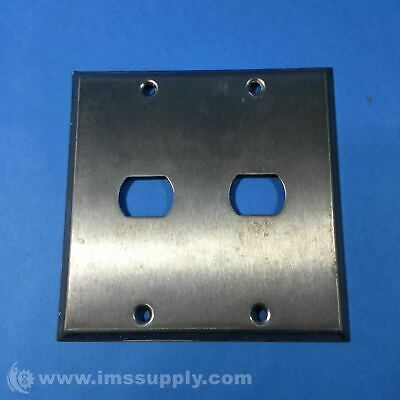 Wall Plate, 2 Gang, 2 Despard, Stainless Steel USIP
