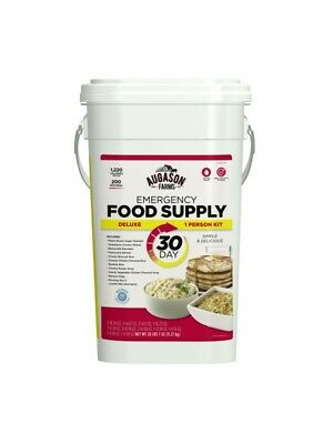 New FRESH Deluxe Emergency 30-Day Food Supply (1 Person) 200 servings pail