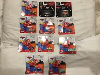 DISNEY PIXAR CARS MINI RACERS NEW Diecast TOKYO DRIFT MATER PLANES TOY BUNDLE