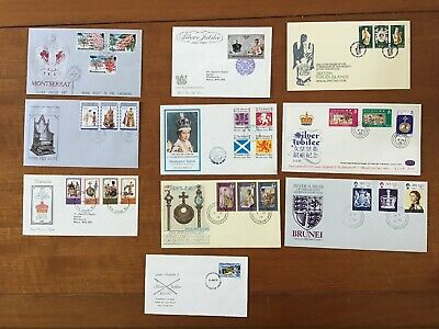 Collection Of 10 1977 Royal Silver Jubilee Covers - Commonwealth Countries