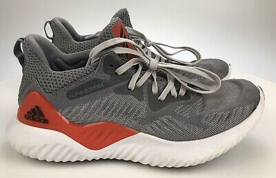 Adidas Alphabounce Beyond, AC8625, Grey/White/Red, Men's Running Shoes Size 7.5