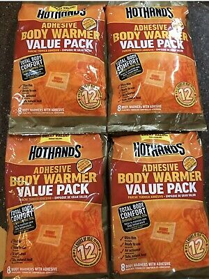 🦌4 Pks Of 8=32! HotHands Adhesive Body Warmer - Expires 6/2022 Hunting Sports🏈