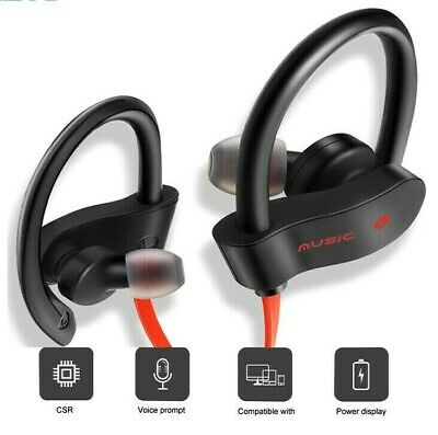Sports Wireless Bluetooth Headphones Earphones Ear Hook Run Earbuds All Devices