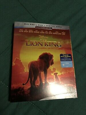 The Lion King (Blu-ray/DVD/Digital, 2019) Disney Live Action w/Slip Cover