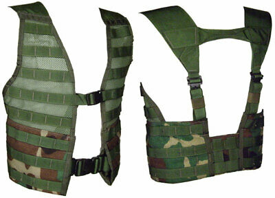 Military Issued Woodland MOLLE II Load Carrying Vest-NEW