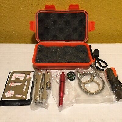 Survival Kit Emergency Tools Military Camping Tactical Outdoor Disaster New