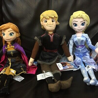 Disney Store FROZEN 2  Soft Toy Doll ELSA ANNA KRISTOFF