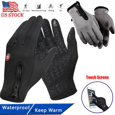 Unisex Winter Warm Windproof Waterproof Thermal Touch Screen Outdoor Gloves USA
