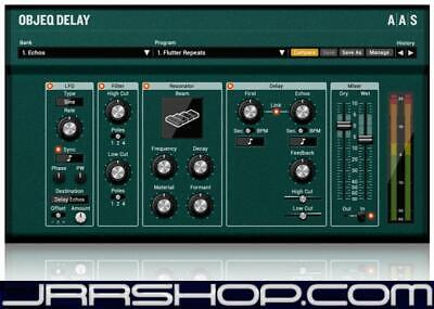AAS Applied Acoustics Systems Objeq Delay Plugin eDelivery JRR Shop