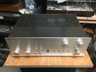 rarely seen early 1970's Kenwood KM-8002 basic stereo power amp