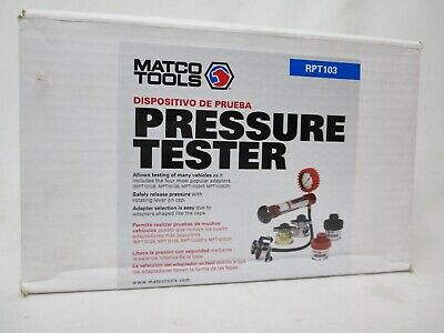 Matco Tools RPT103 Cooling System Pressure Tester Kit New