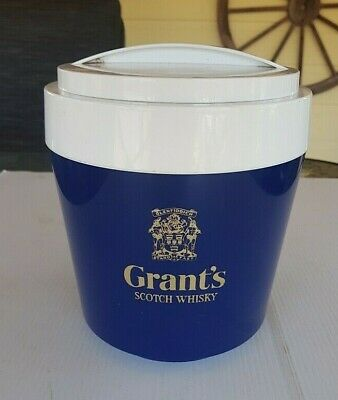 Grants Scotch Whisky Large Vintage Ice Bucket Stewart England