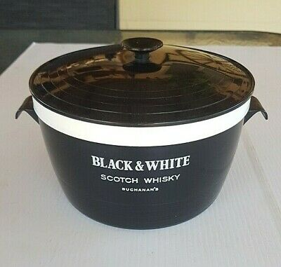 Buchanan's Black & White Scotch Whisky Large Vintage Ice Bucket Thermal WelWare