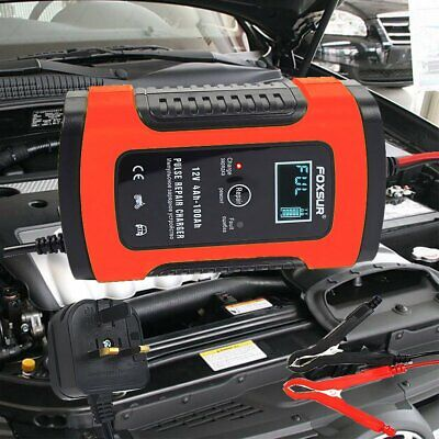 UK Plug SMART PULSE REPAIR 12V 5A BATTERY CHARGER Version 7.0 For Automatic 2020