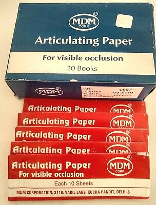 Dental Articulating Paper For Visible Occlusion 20 Books