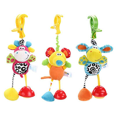 Newborn Baby Cute Animal Soft Rattles Teether Stroller Pram Hanging Plush Toy MA