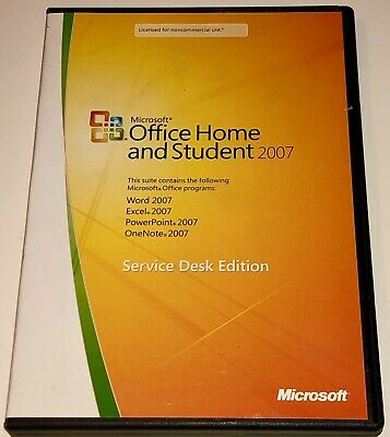 Microsoft Office Home and Student 2007  for 3 Computers (Service Desk Edition)