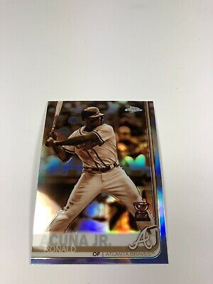 2019 Topps Chrome Ronald Acuna Jr. Sepia Refractor #117 Rookie Cup Atlanta Brave