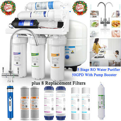 Reverse Osmosis Water Filtration System 5Stage RO UnderSink Purifier Faucet&Tank
