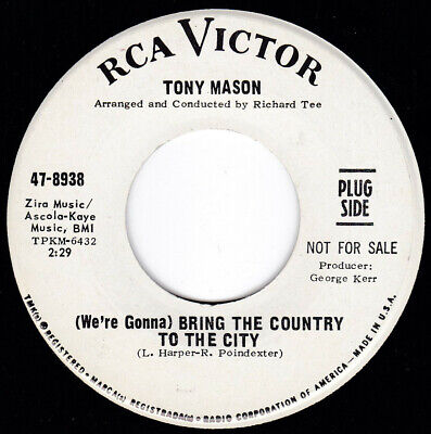 Northern Soul TONY MASON Bring the Country to the City 45 RCA Victor HEAR