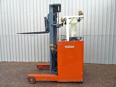 NISSAN 1.8 .6000mm LIFT. USED ELECTRIC FORKLIFT TRUCK. (#2555)