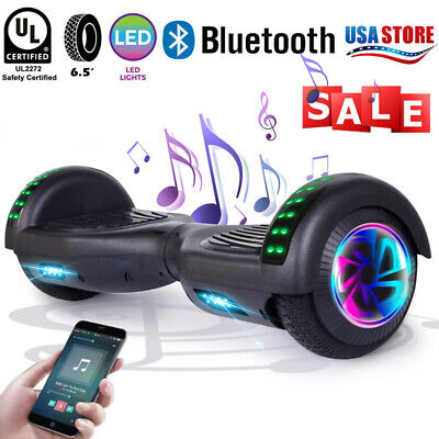 """LED Bluetooth Hoverboard  6.5"""" Electric Self Balancing Without Bag US Scooter"""