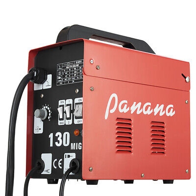Panana MIG 130 Gasless & NO Gas Flux 230V Portable Welder Welding Mask Machine