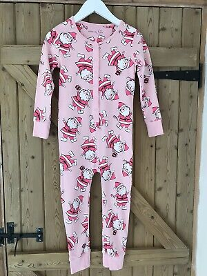 Next Pink Father Christmas Santa All In One Pyjamas Onesie (not Gerber) 6y