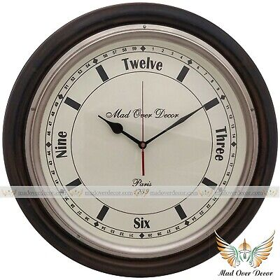 Collectible Nautical Solid Wooden Brass Wall Clock Wall Decorative Gift Item