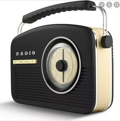 Akai DAB/FM Retro Radio- Black/Cream