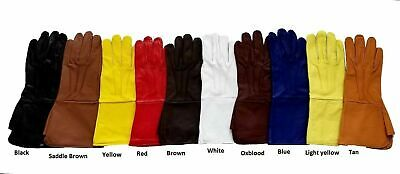 Men's Medieval Renaissance Cosplay Genuine Leather Top Quality Gloves