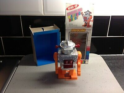 Robot , Sparkling Wind Up , Made In Hong Kong , Mint Boxed,
