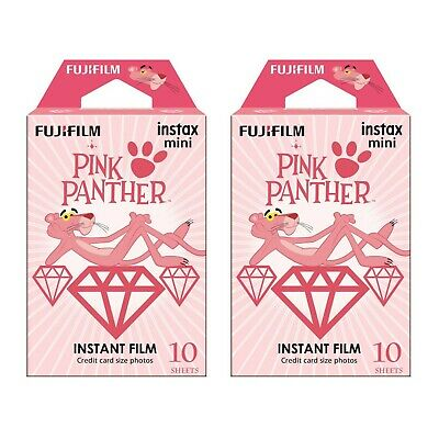 2 Packs 20 Photos Pink Panther FujiFilm Fuji Instax Mini Film Polaroid 7S Liplay