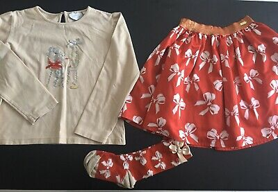 Girls Designer A Dee Outfit Top Skirt & Socks Age 12 Years Vgc